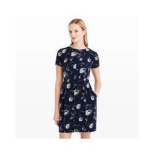 Club Monaco Willa Dress Floral Blue Size 10